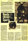 October 22 1964 Motor Cycle mag Honda Supplement article - CB 160